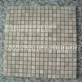 White Nets Beige Marble Mosaics